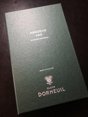ドーメル アマデウス365のオーダースーツ生地の入荷のお知らせ