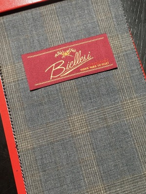 おしゃれなオーダースーツにオススメのイタリア製ビエレッシの入荷